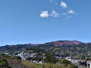 どんつく神社からの山の景色