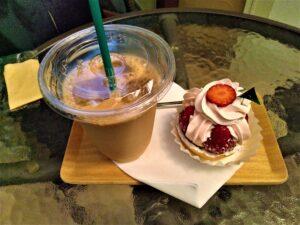 レマンの森 ケーキ アイスコーヒー